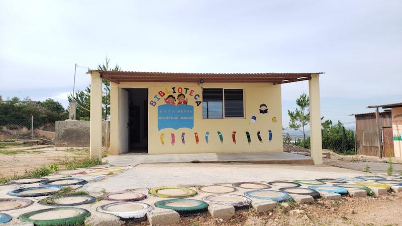 Nouvelle bibliothèque dans la région mixteca de l'état de Oaxaca