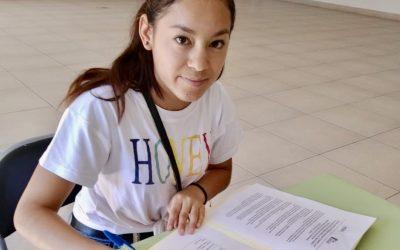 Une nouvelle étudiante du programme de bourses «Objectif Lune» de la Fondation Mexxa !